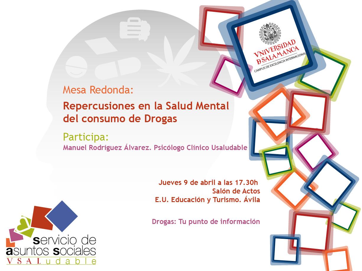Cartel mesa redonda drogodependencias